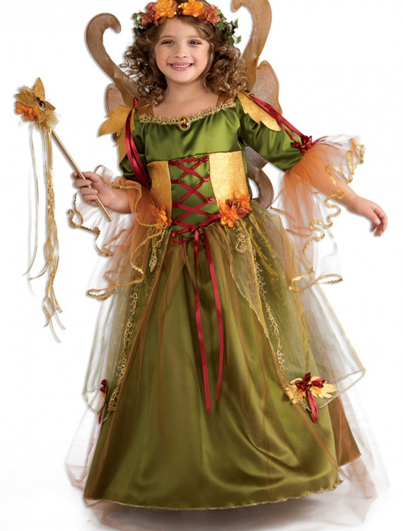 Girls Forest Fairy Queen Costume, halloween costume (Girls Forest Fairy Queen Costume)