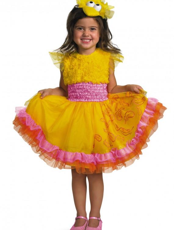 Girls Frilly Big Bird Costume, halloween costume (Girls Frilly Big Bird Costume)