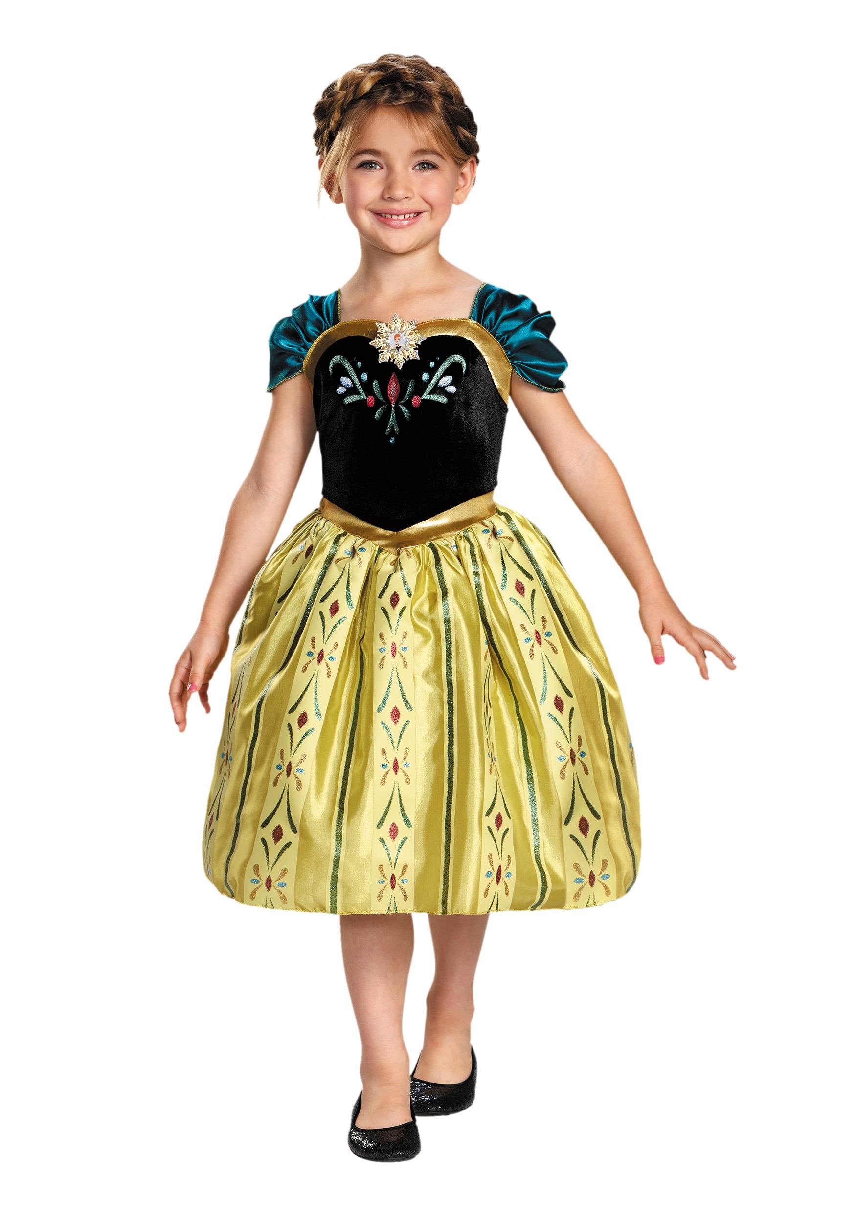 Girls Frozen Classic Anna Coronation Dress  sc 1 st  Halloween Costumes & Girls Frozen Classic Anna Coronation Dress - Halloween Costumes