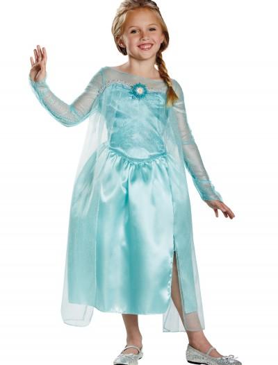 Girls Frozen Classic Elsa Snow Queen Gown, halloween costume (Girls Frozen Classic Elsa Snow Queen Gown)