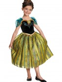 Girls Frozen Deluxe Anna Coronation Gown, halloween costume (Girls Frozen Deluxe Anna Coronation Gown)