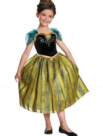 Girls Frozen Deluxe Anna Coronation Gown, halloween costume (Girls Frozen Deluxe Anna Coronation Gown)