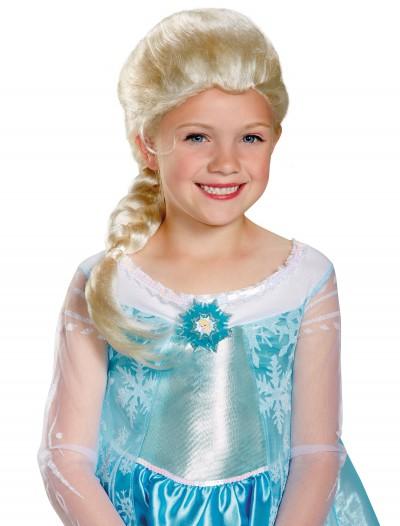 Girls Frozen Elsa Wig, halloween costume (Girls Frozen Elsa Wig)