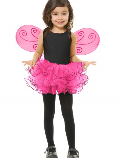 Girls Fuchsia Pixie Tutu Set, halloween costume (Girls Fuchsia Pixie Tutu Set)