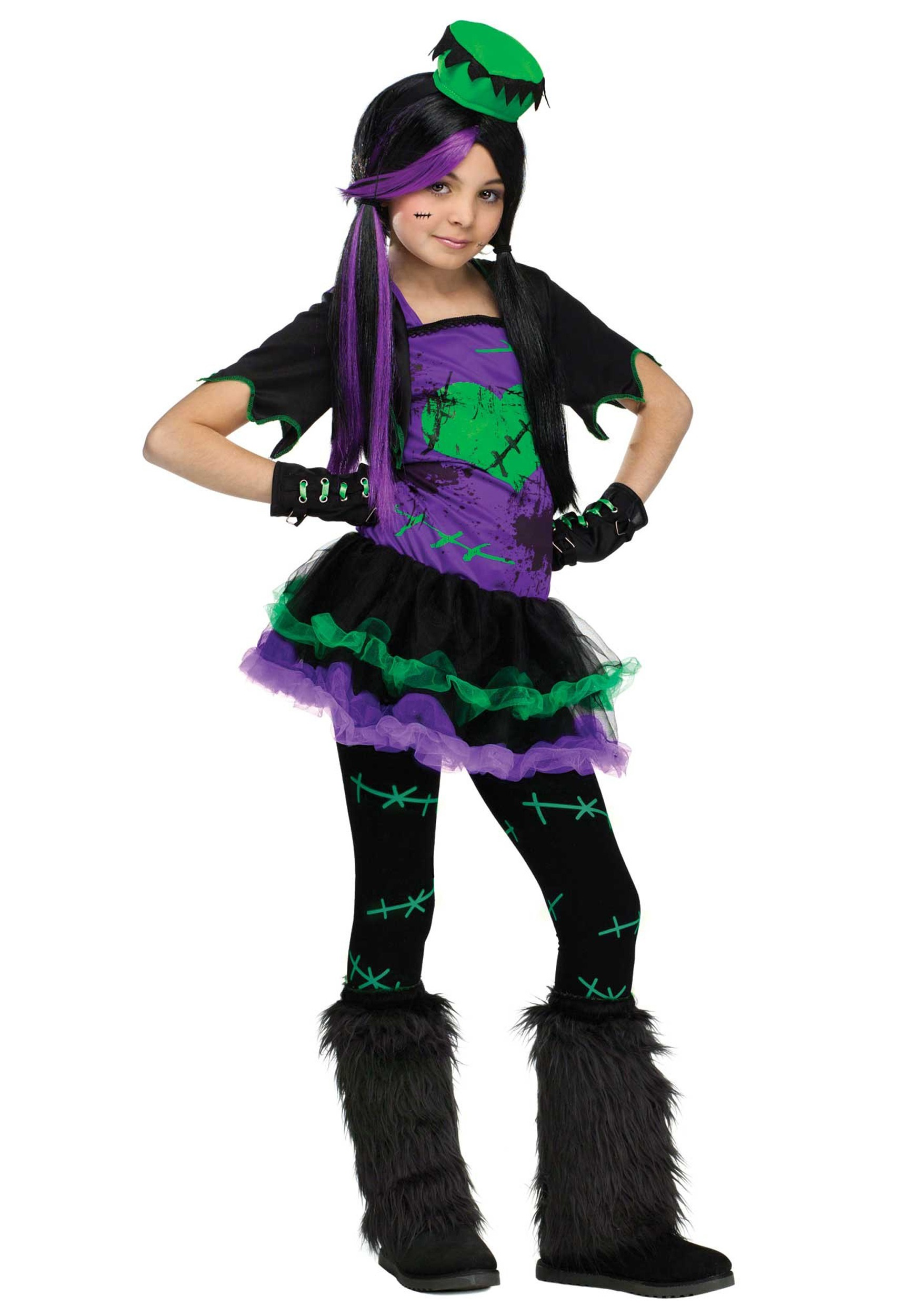 Girls Funky Frankie Costume Halloween Costumes