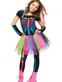 Girls Funky Punky Bones Costume, halloween costume (Girls Funky Punky Bones Costume)