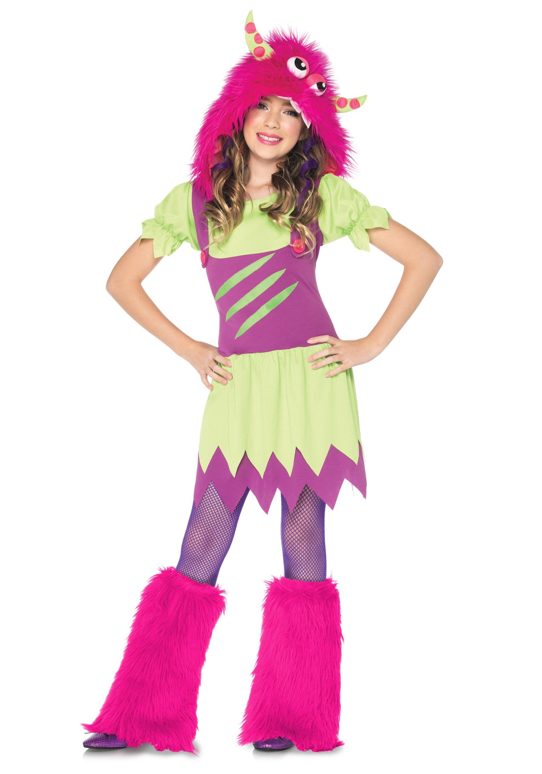 girls fuzzy wuzzy monster costume