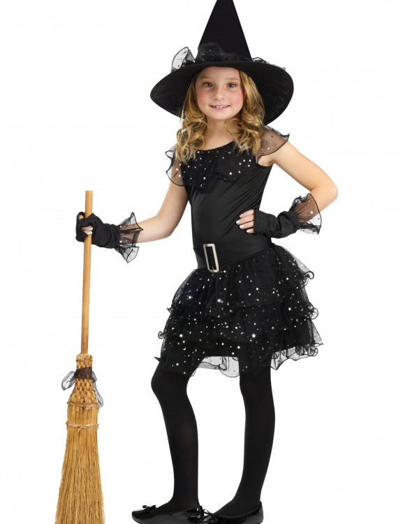 Girls Glitter Witch Costume, halloween costume (Girls Glitter Witch Costume)