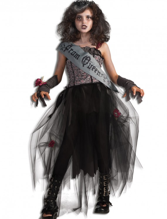 Girls Goth Prom Queen Costume, halloween costume (Girls Goth Prom Queen Costume)