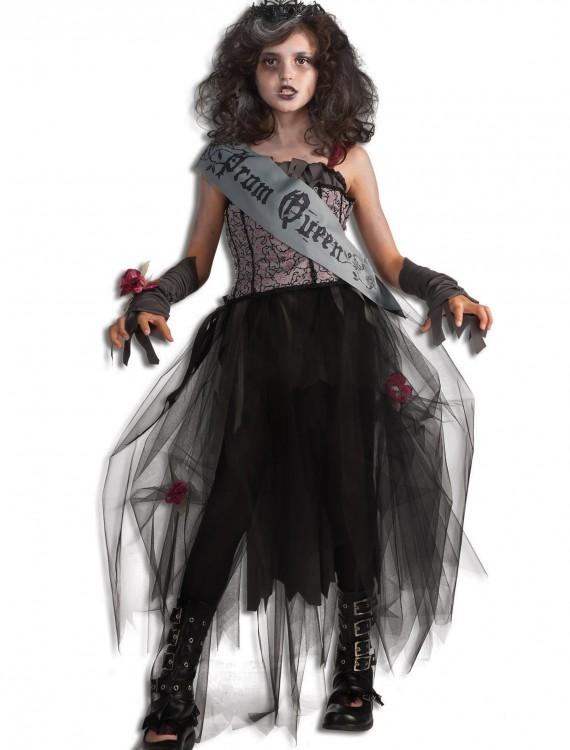 Girls Goth Prom Queen Costume, halloween costume (Girls Goth Prom Queen Costume)