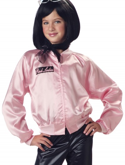 Girls Grease Pink Ladies Jacket, halloween costume (Girls Grease Pink Ladies Jacket)
