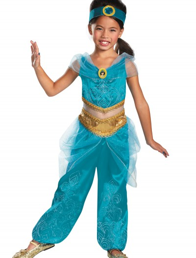 Girls Jasmine Sparkle Deluxe Costume, halloween costume (Girls Jasmine Sparkle Deluxe Costume)