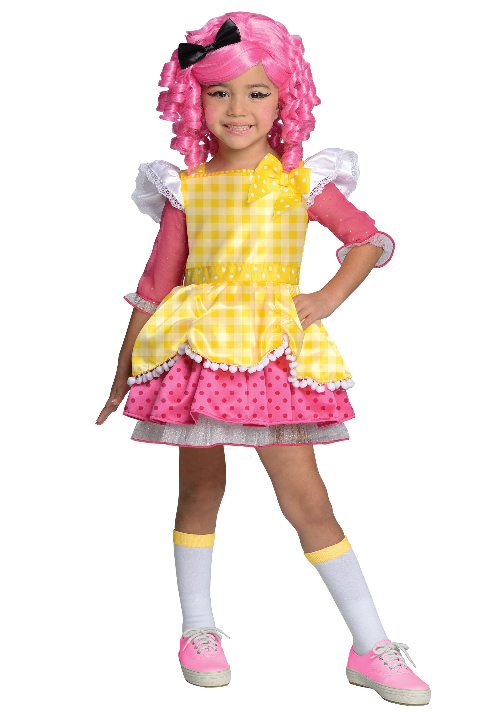 Girls Lalaloopsy Crumbs Sugar Cookie Costume  sc 1 st  Halloween Costumes & Girls Lalaloopsy Crumbs Sugar Cookie Costume - Halloween Costumes