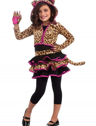 Girls Leopard Hoodie Costume, halloween costume (Girls Leopard Hoodie Costume)