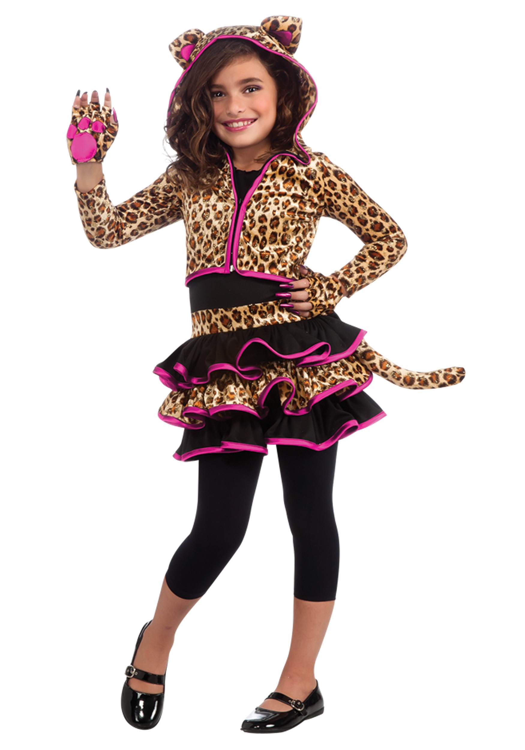 girls leopard hoodie costume - halloween costumes