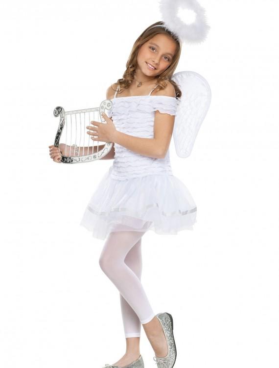 Girls Little Angel Costume, halloween costume (Girls Little Angel Costume)
