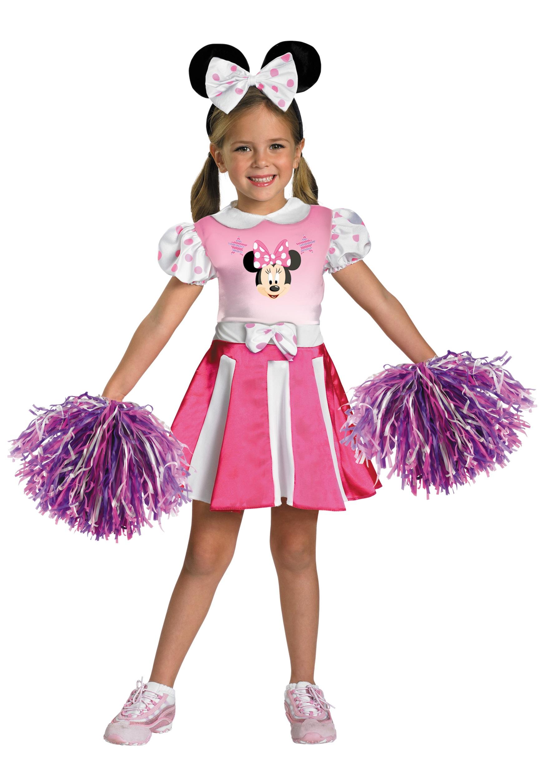 Girls Minnie Mouse Cheerleader Costume  sc 1 st  Halloween Costumes & Girls Minnie Mouse Cheerleader Costume - Halloween Costumes