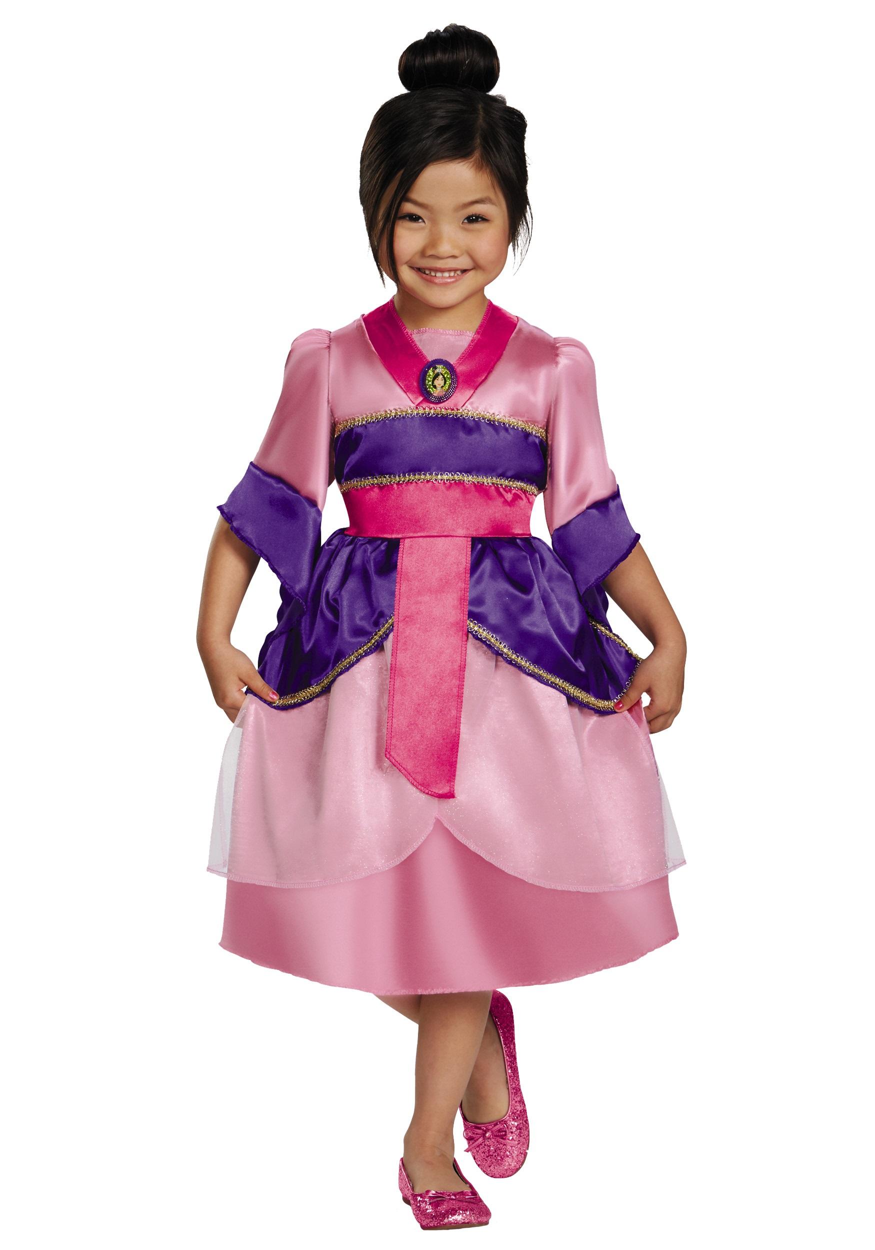 girls mulan sparkle classic costume