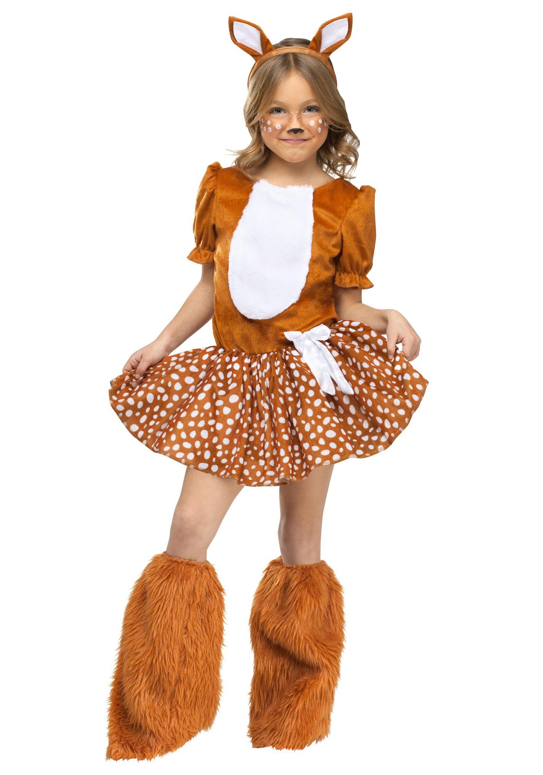 Girls Oh Deer Costume - Halloween Costumes