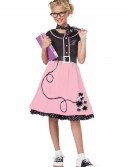 Girls Pink 50s Sweetheart Costume, halloween costume (Girls Pink 50s Sweetheart Costume)