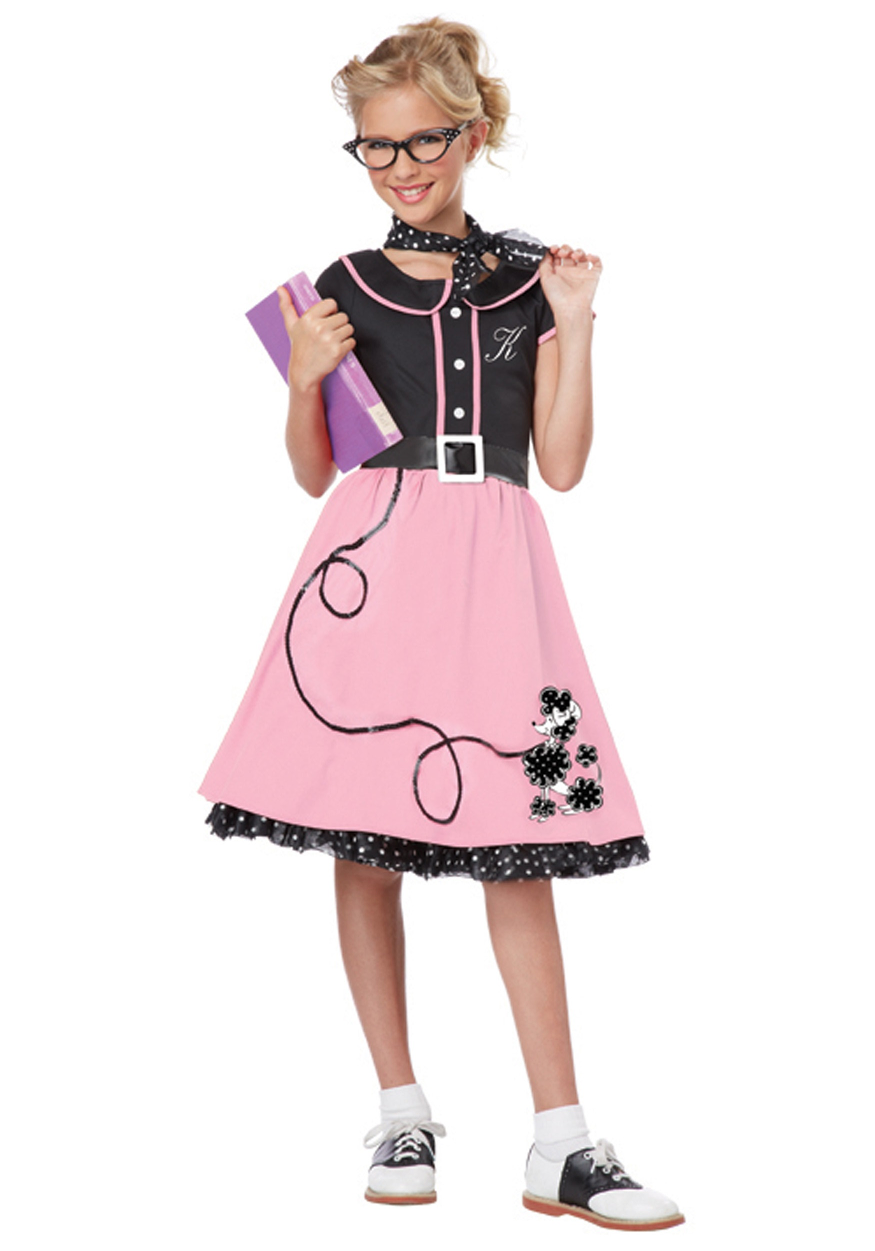 Girls Pink 50s Sweetheart Costume  sc 1 st  Halloween Costumes & Girls Pink 50s Sweetheart Costume - Halloween Costumes