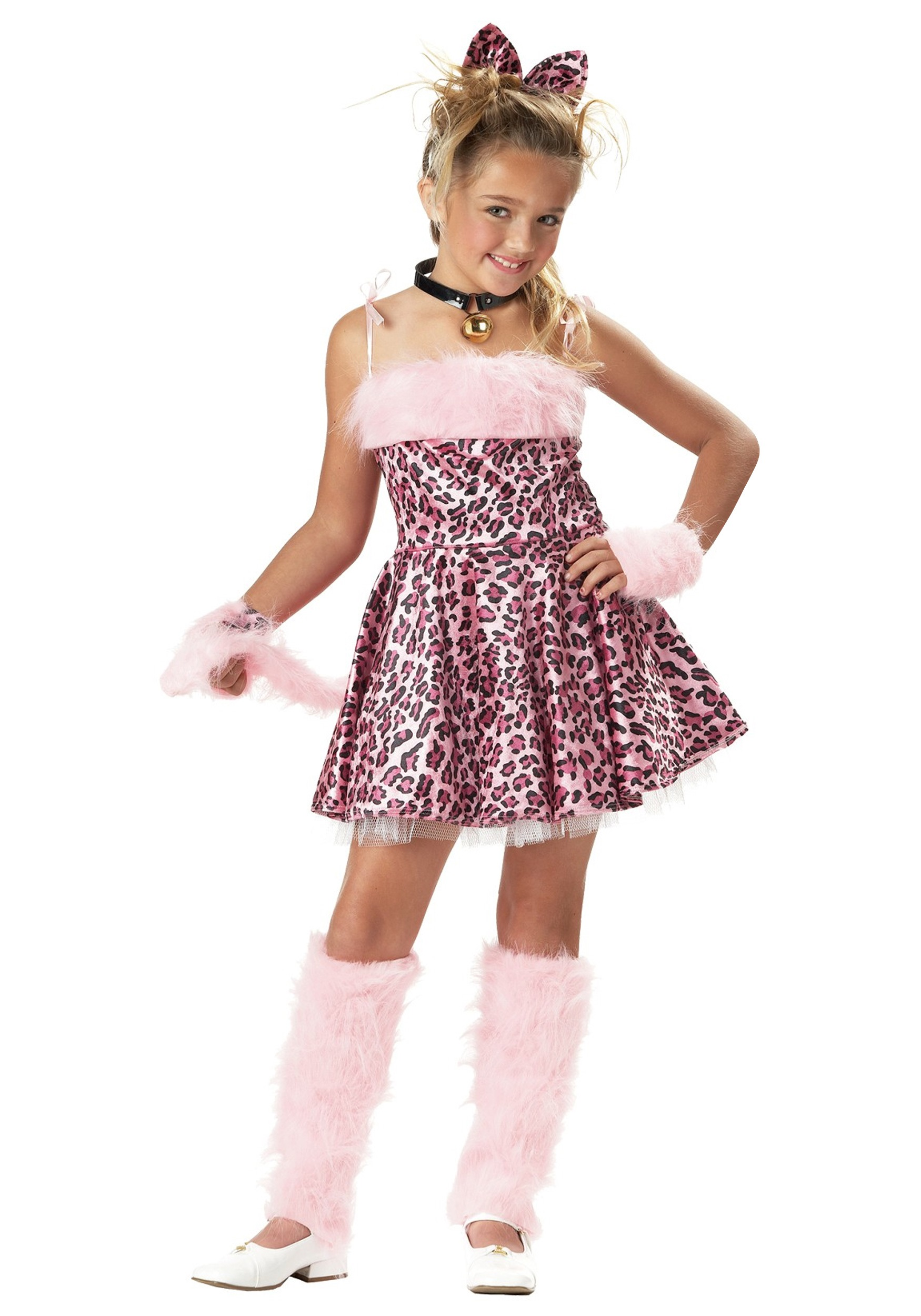 girls pink cat costume