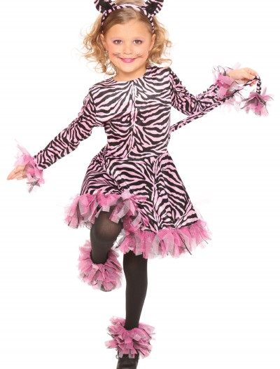 Girls Pink Tiger Costume, halloween costume (Girls Pink Tiger Costume)