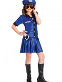 Girls Blue Police Officer Costume, halloween costume (Girls Blue Police Officer Costume)