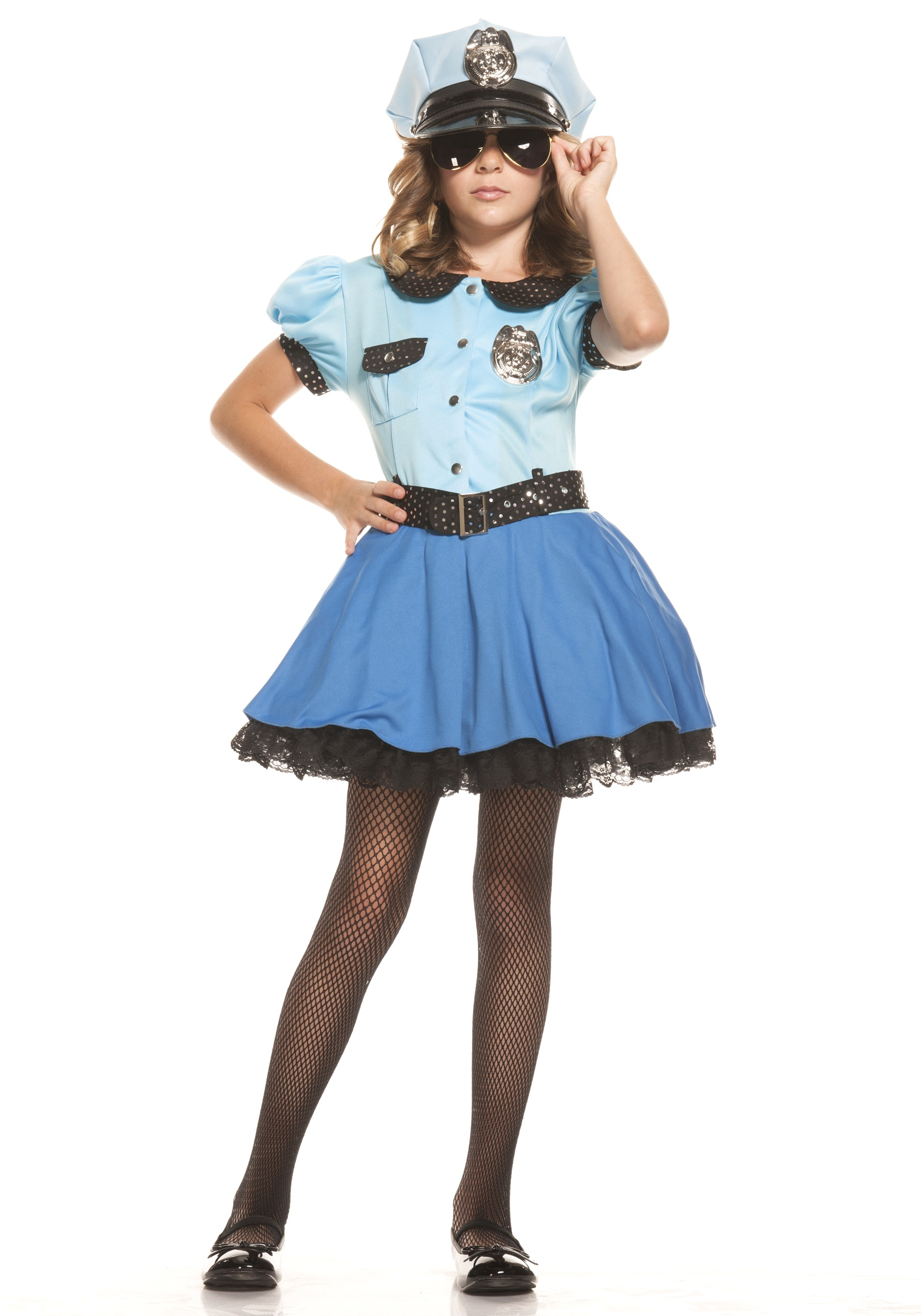 bbfb2cdd3da Girls Police Uniform Costume