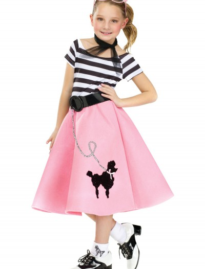 Girls Poodle Skirt Dress, halloween costume (Girls Poodle Skirt Dress)
