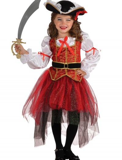 Girls Princess Sea Pirate Costume, halloween costume (Girls Princess Sea Pirate Costume)