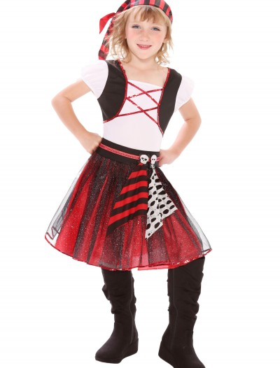 Girls Punky Pirate Costume, halloween costume (Girls Punky Pirate Costume)