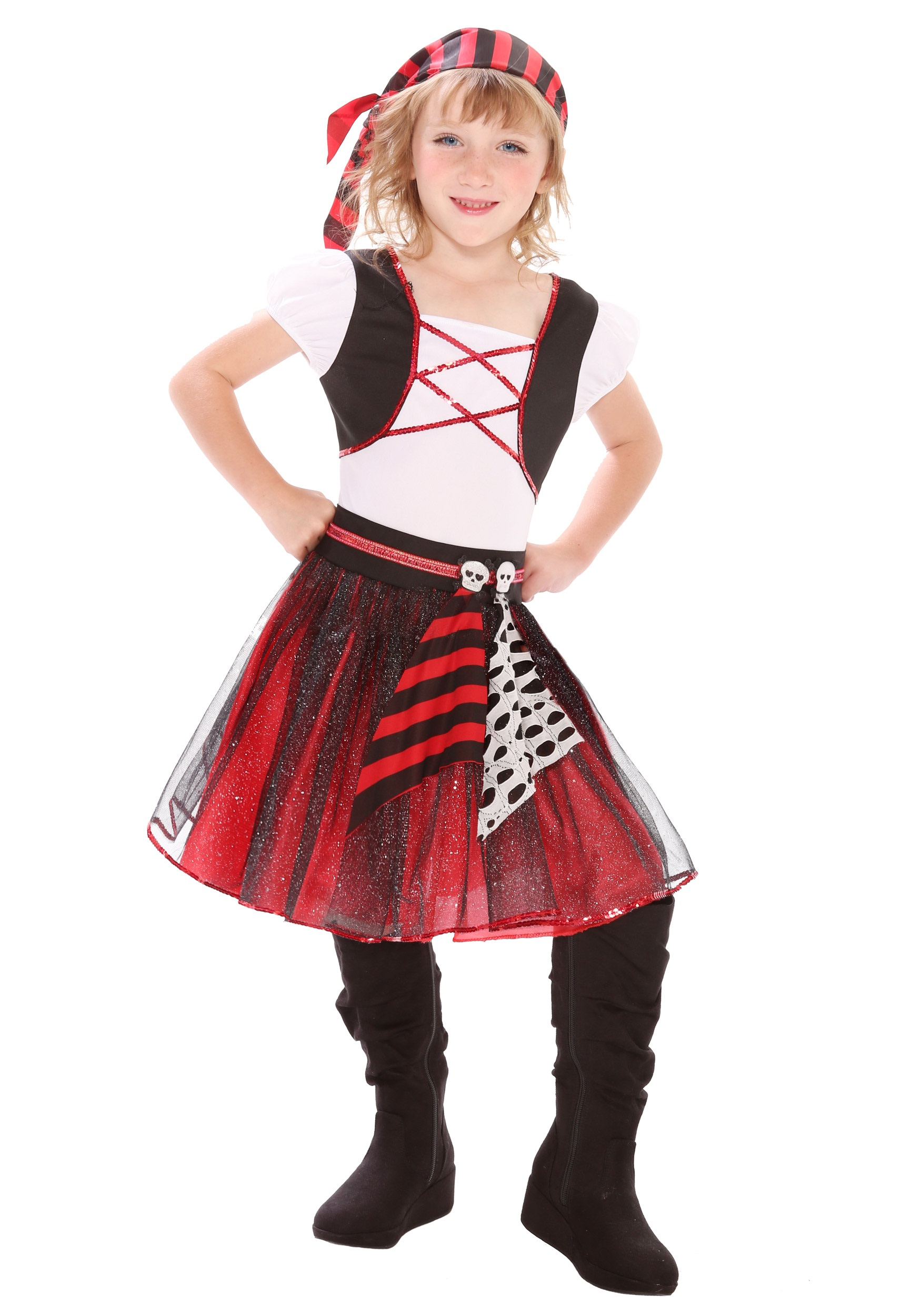 Girls Punky Pirate Costume  sc 1 st  Halloween Costumes & Girls Punky Pirate Costume - Halloween Costumes