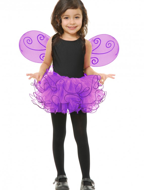 Girls Purple Pixie Tutu Set, halloween costume (Girls Purple Pixie Tutu Set)