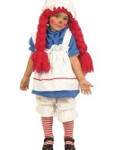 Girls Little Rag Doll Costume, halloween costume (Girls Little Rag Doll Costume)