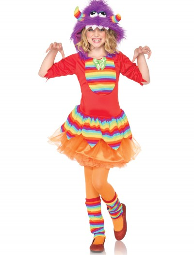 Girls' Rainbow Monster Costume, halloween costume (Girls' Rainbow Monster Costume)