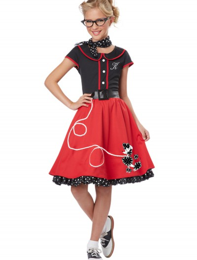 Girls Red 50s Sweetheart Costume, halloween costume (Girls Red 50s Sweetheart Costume)