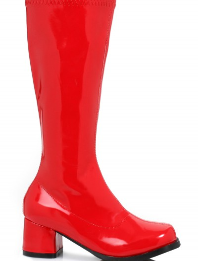 Girls Red Gogo Boots, halloween costume (Girls Red Gogo Boots)