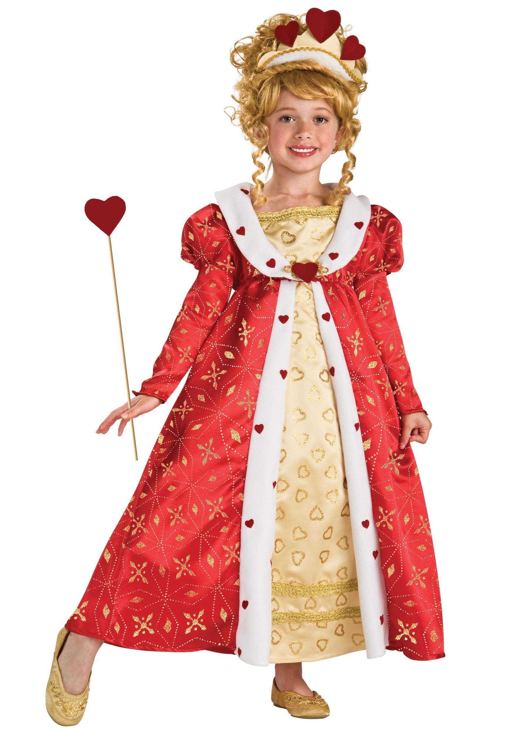 girls red heart princess costume
