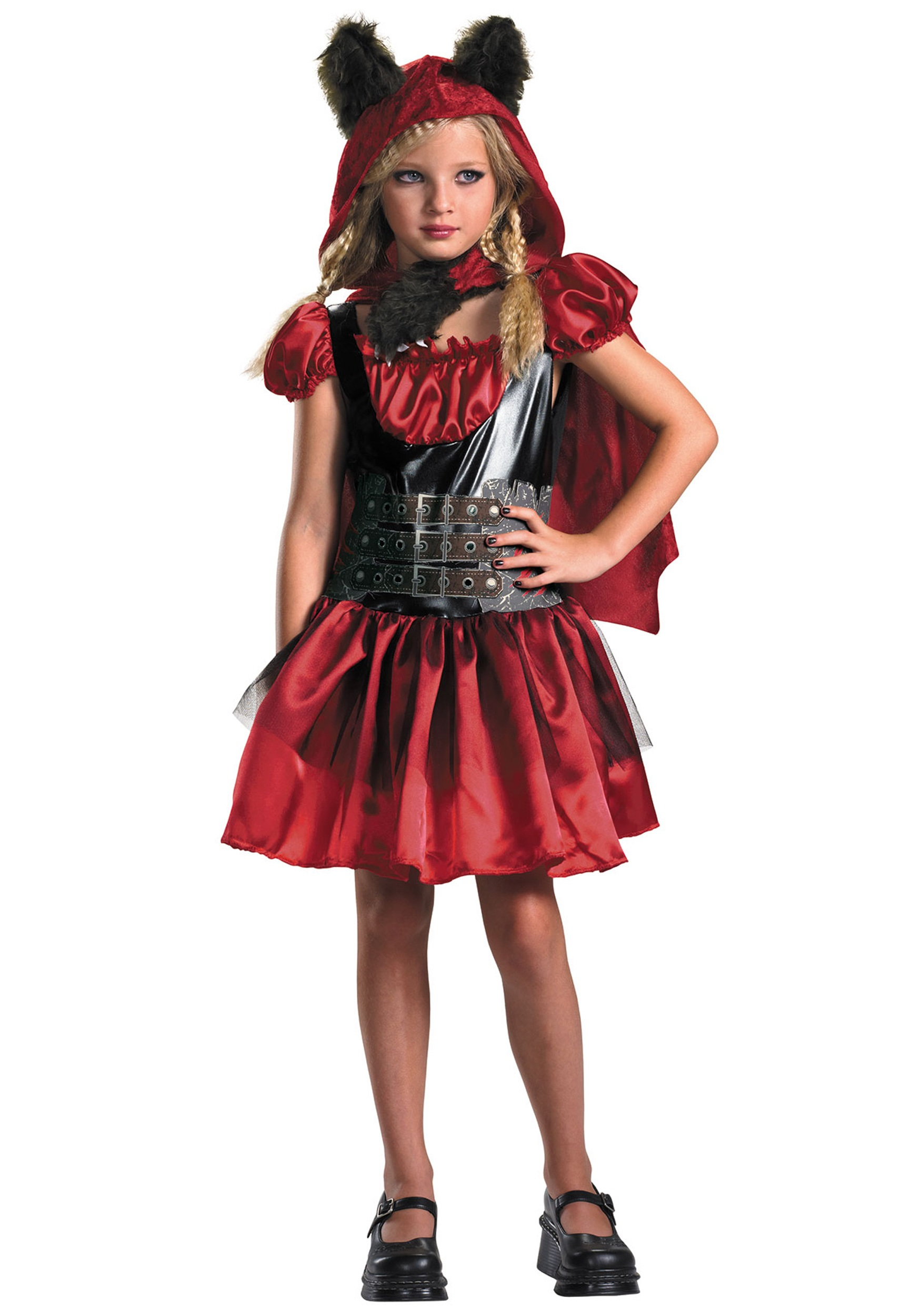 Girls Red Riding Rage Costume  sc 1 st  Halloween Costumes & Girls Red Riding Rage Costume - Halloween Costumes
