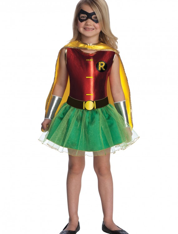 Girls Robin Tutu Costume, halloween costume (Girls Robin Tutu Costume)