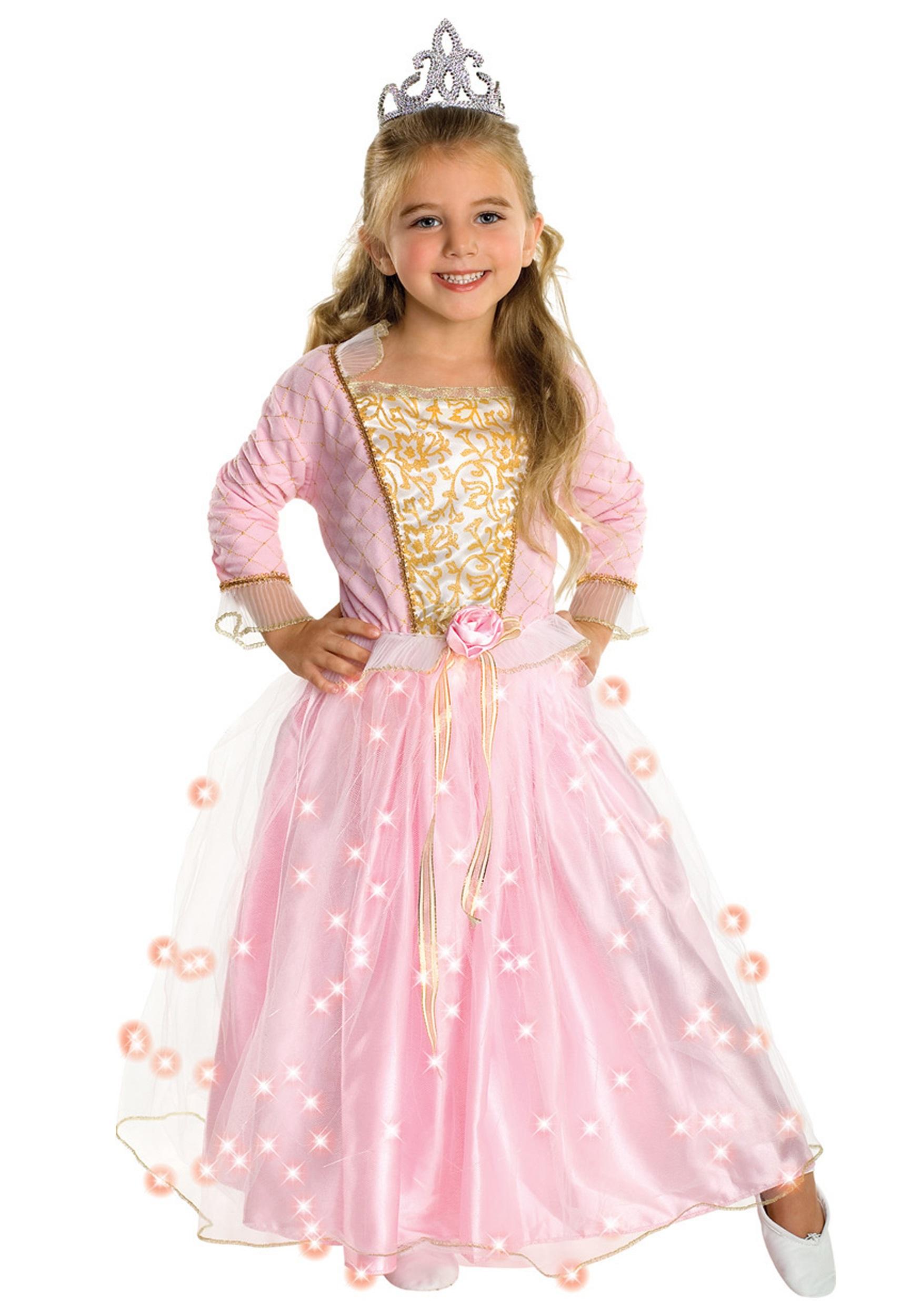 girls rose princess costume - halloween costumes