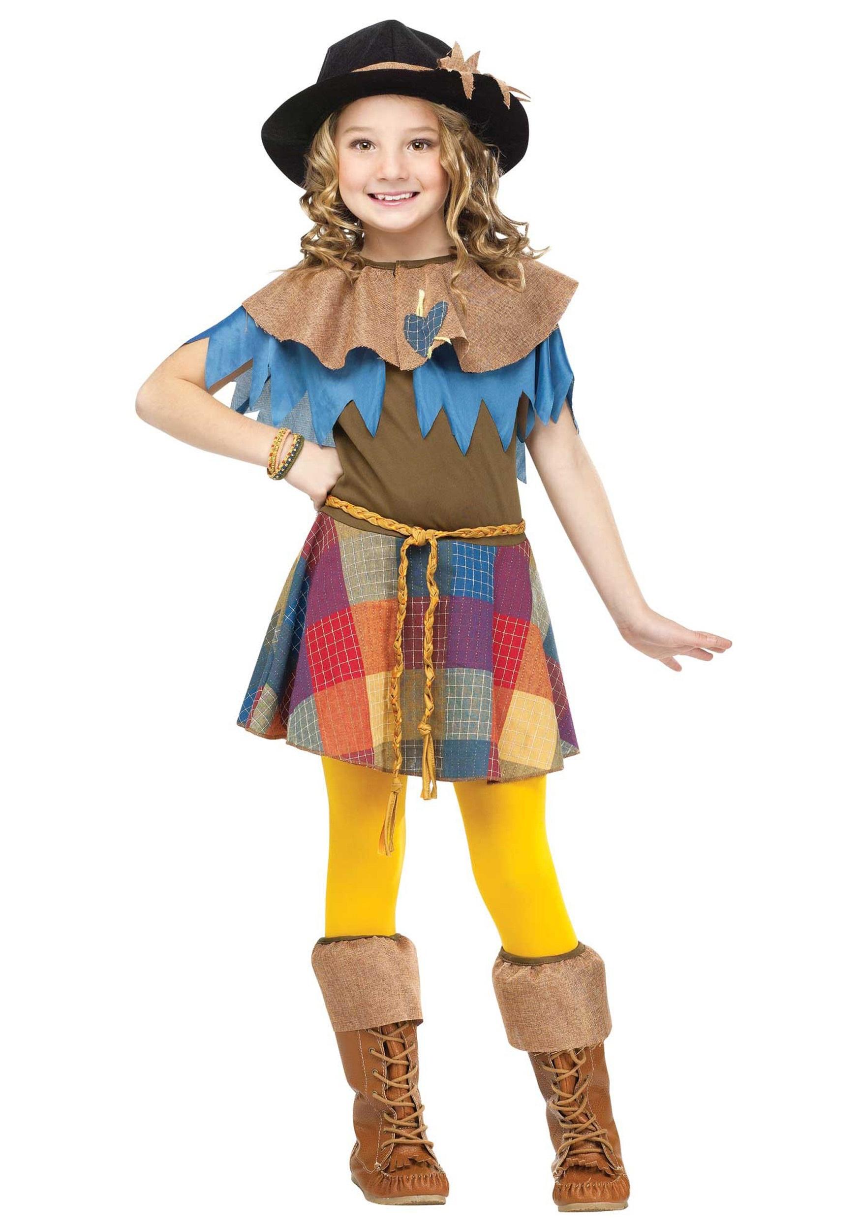 Girls Scarecrow Costume  sc 1 st  Halloween Costumes & Girls Scarecrow Costume - Halloween Costumes