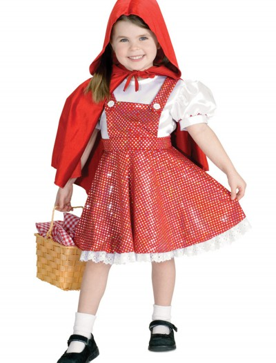 Girls Sequin Red Riding Hood Costume, halloween costume (Girls Sequin Red Riding Hood Costume)