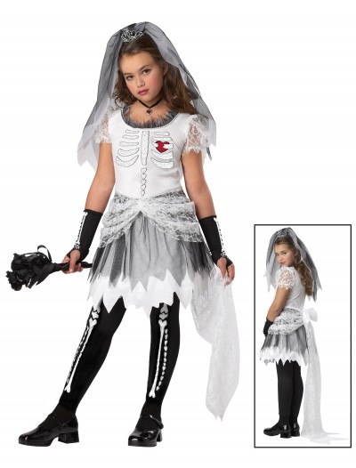 Girls Skela Bride Costume, halloween costume (Girls Skela Bride Costume)