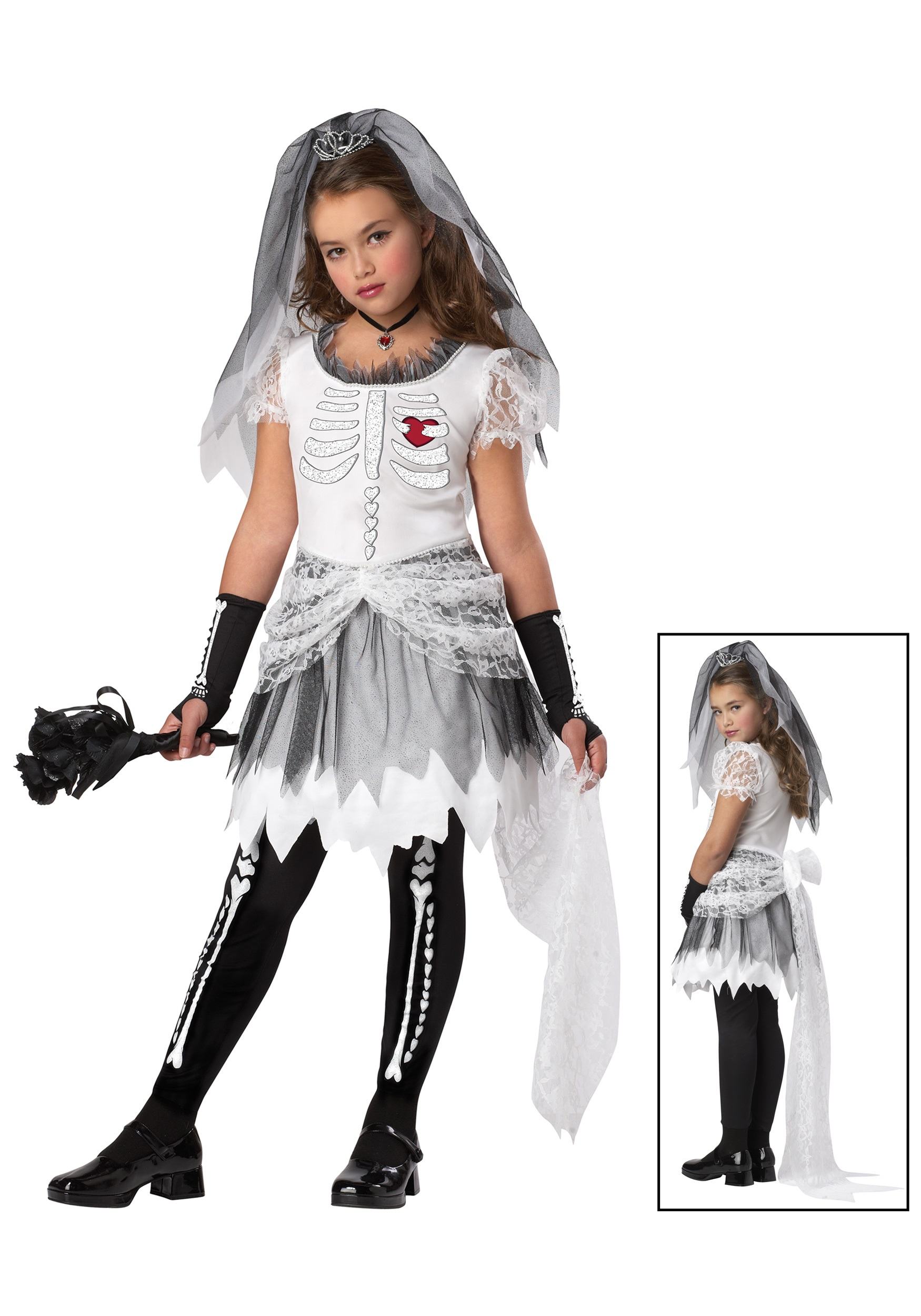 Girls Skela Bride Costume  sc 1 st  Halloween Costumes & Girls Skela Bride Costume - Halloween Costumes