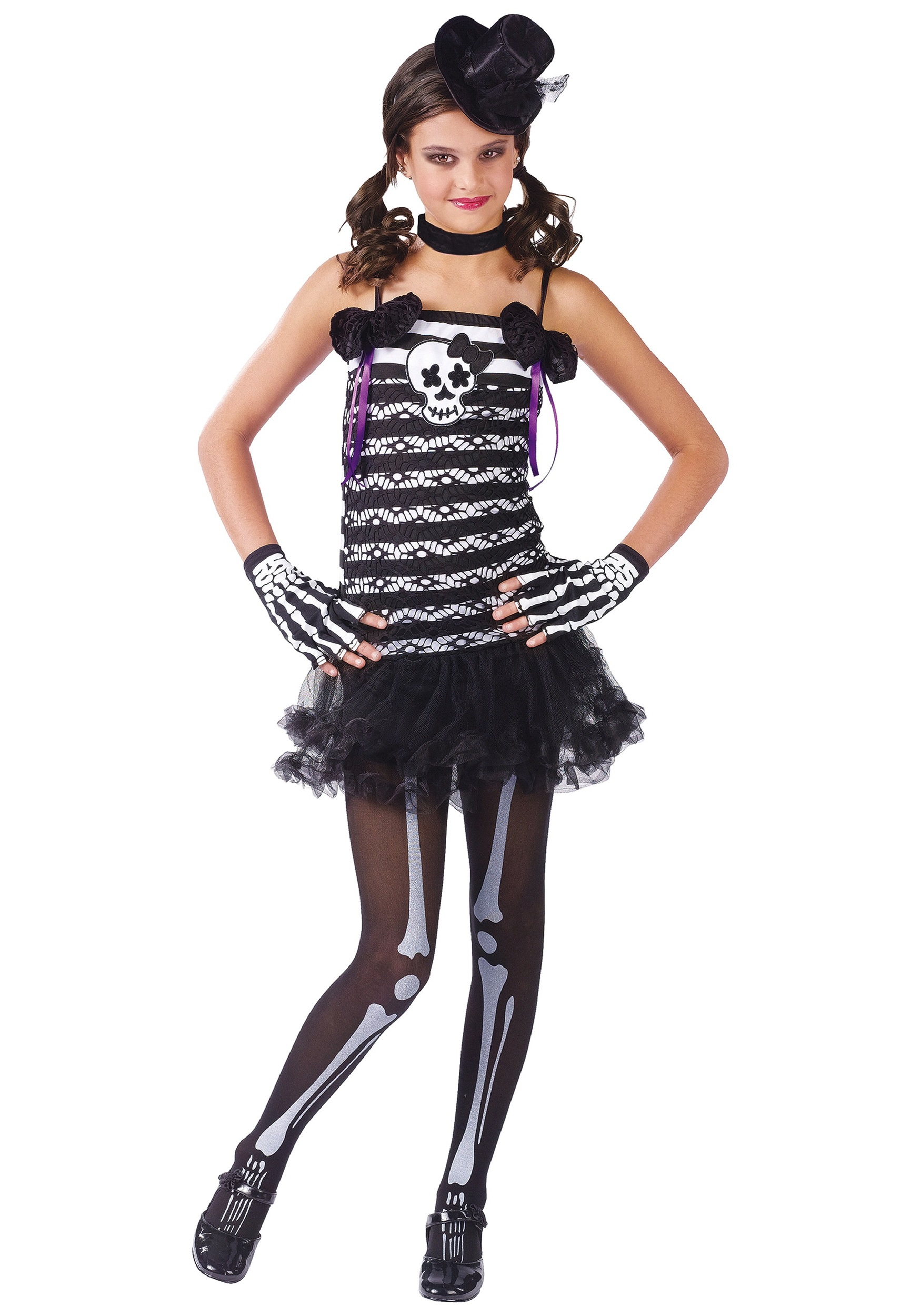 Girls Skeleton Costume  sc 1 st  Halloween Costumes & Girls Skeleton Costume - Halloween Costumes