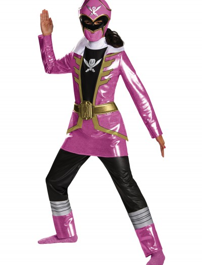 Girls Super Megaforce Deluxe Pink Ranger Costume, halloween costume (Girls Super Megaforce Deluxe Pink Ranger Costume)