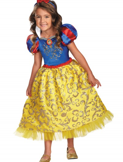 Girls Snow White Sparkle Deluxe Costume, halloween costume (Girls Snow White Sparkle Deluxe Costume)