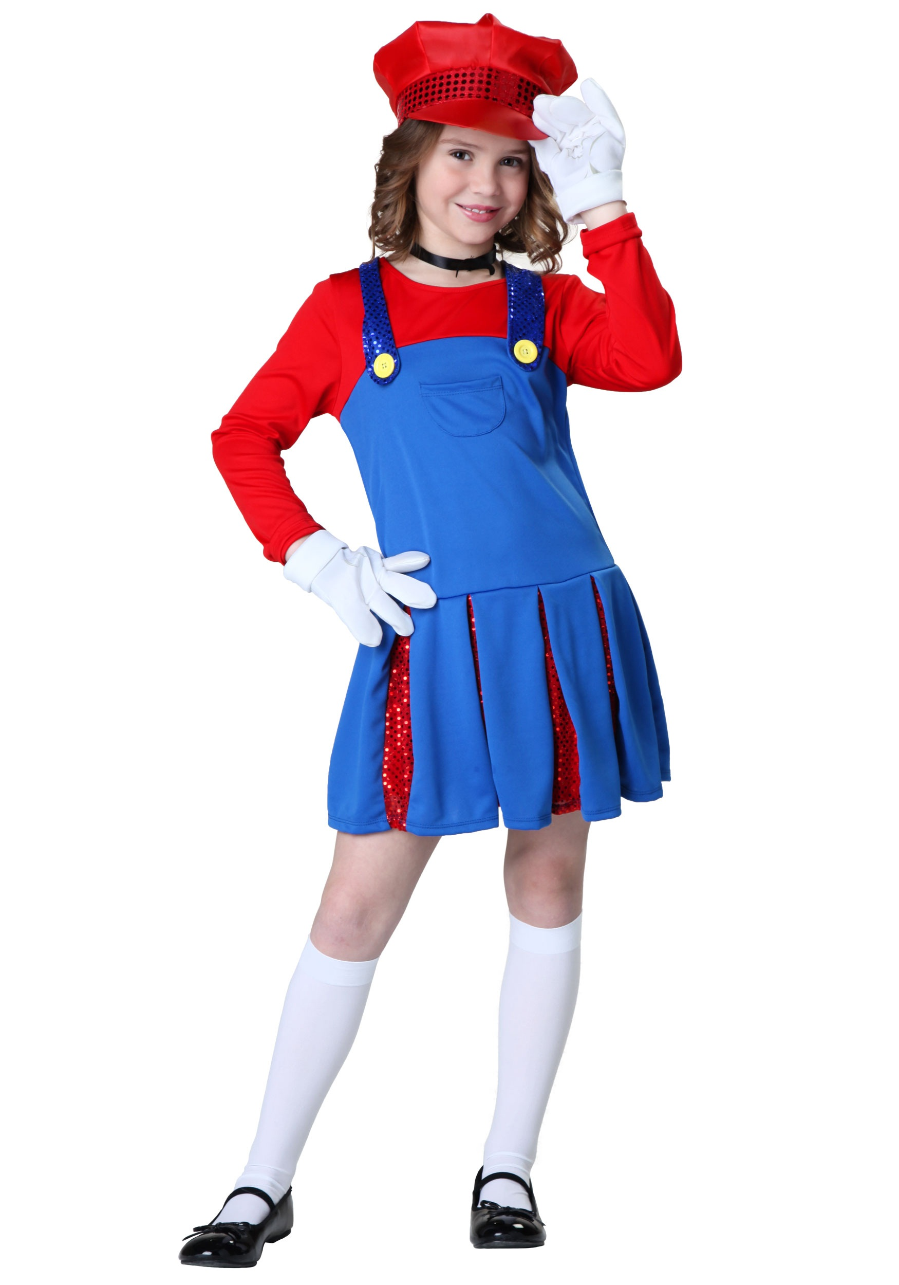 girls super maria costume halloween costumes